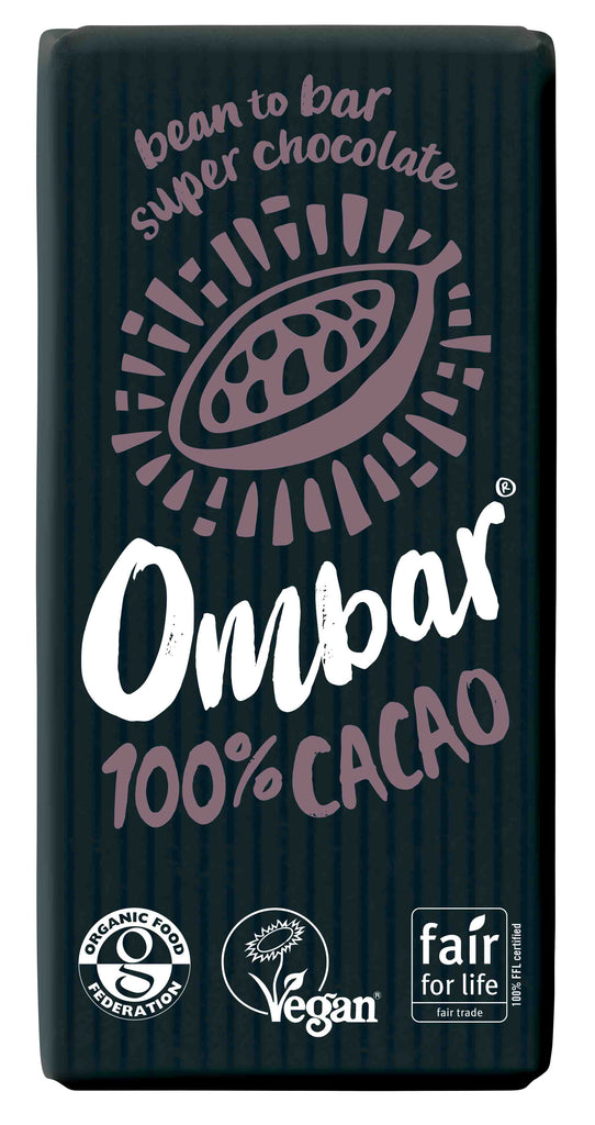 Ombar 100% Organic Chocolate (case of 10)