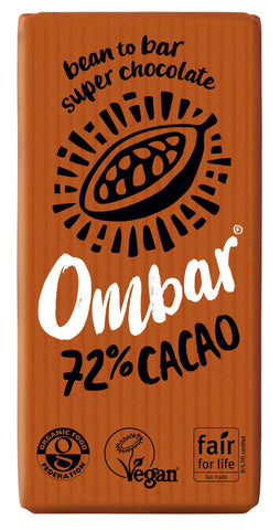 Ombar 72% Cacao Organic Chocolate (case of 10)