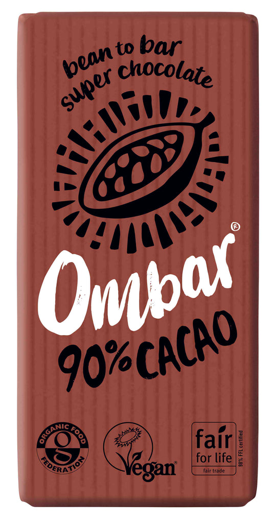 Ombar 90% Cacao Organic Chocolate (case 10)