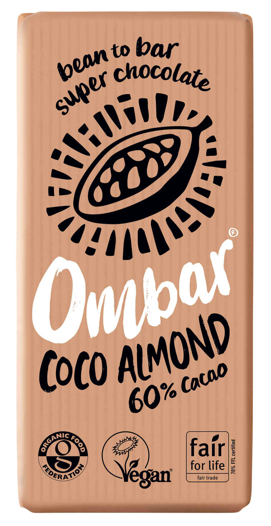 Ombar Coco Almond Raw Chocolate (70g) (Case of 10)