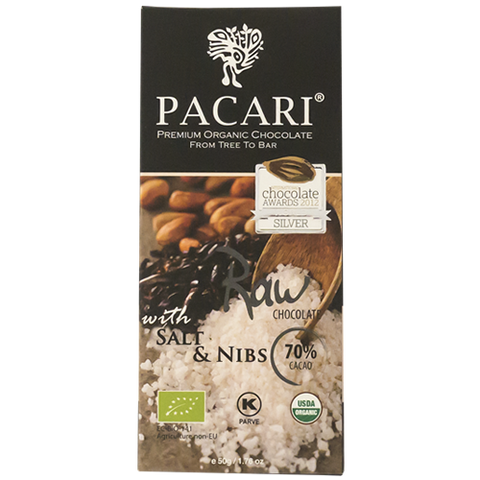 Pacari Organic Raw 70% with Salt & Nibs