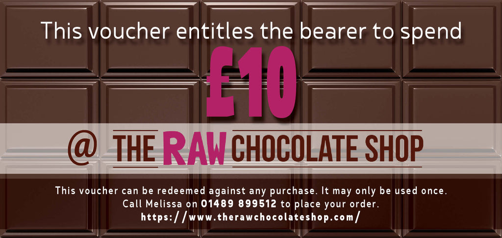 £10 Raw Chocolate Shop Voucher