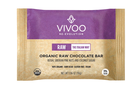 Vivoo Organic Dark Chocolate 71% Reishi & Pine nuts