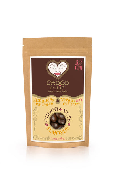 Raw Chocolate Covered Almonds (70g)