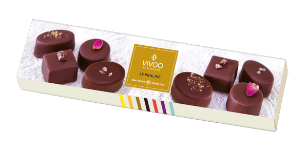 Vivoo Organic Raw Dark Chocolate Pralines (8 pieces)