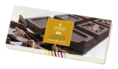 Vivoo Organic Dark Chocolate 73% (200g)