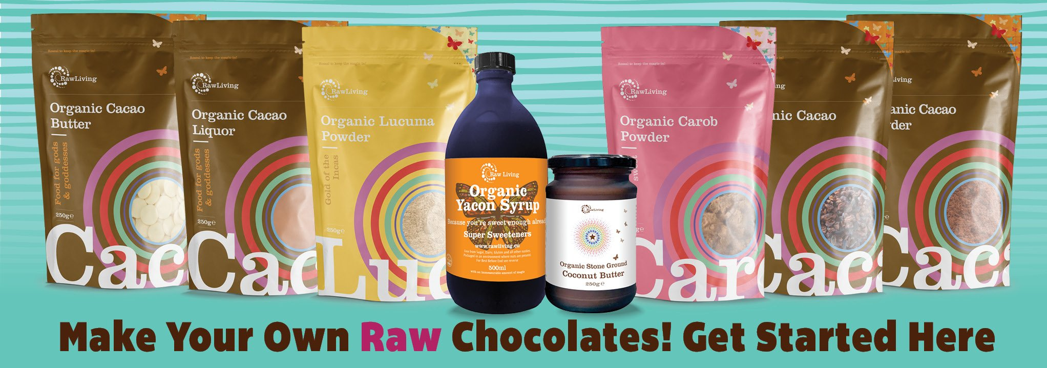 raw chocolate products