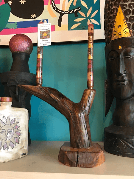 Double candle stick,,Candle Holder The Funky Hippy Chic Boutique