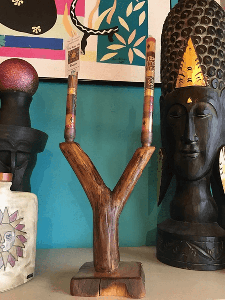 Double candle stick (2),,Nature Work The Funky Hippy Chic Boutique