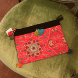 Hot pink floral notebook case clutch,,Bags The Funky Hippy Chic Boutique
