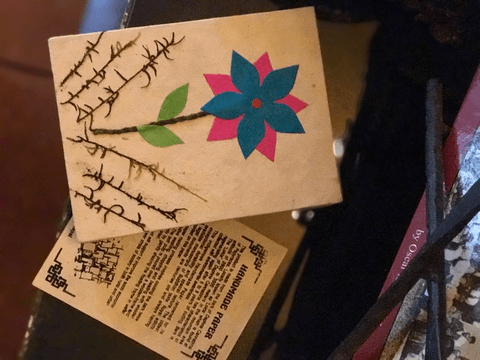 Flower Handmade Paper Journal from Nepal,,Journal The Funky Hippy Chic Boutique