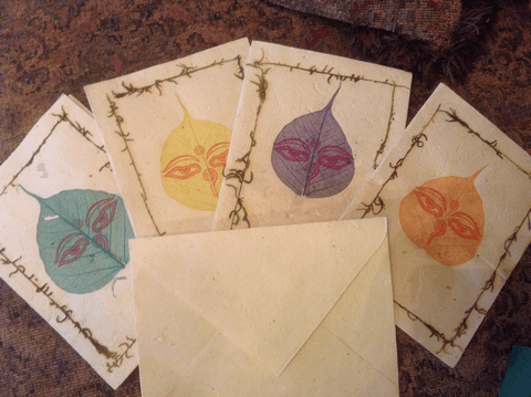Handmade Paper note cards from Nepal,,Journal The Funky Hippy Chic Boutique