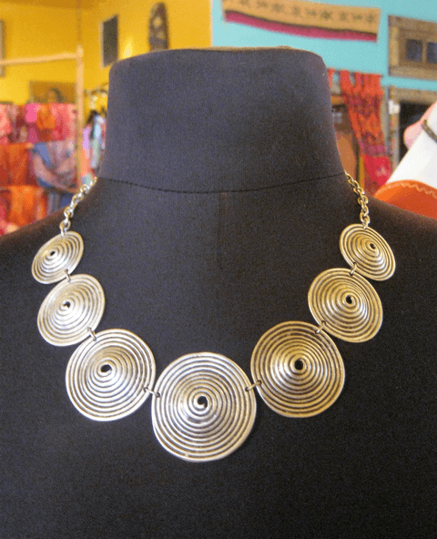 Silver Sphere necklace,,Necklace The Funky Hippy Chic Boutique