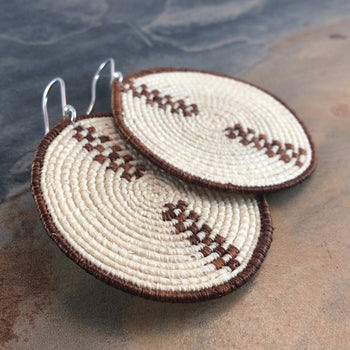 Basket Weave Sisal Earrings