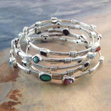 Energy Bangles with Birthstones