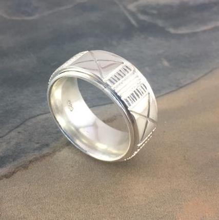 Ndebele Inspired Spinner Ring