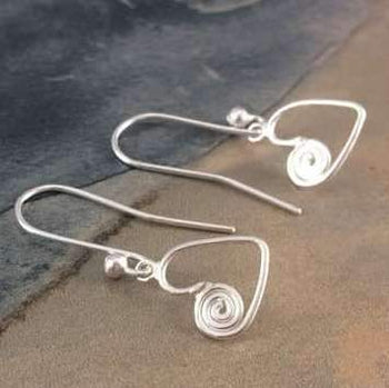 Ndoro Heart Earrings in Sterling Silver