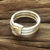 Chunky Silver Ndoro Stacking Ring