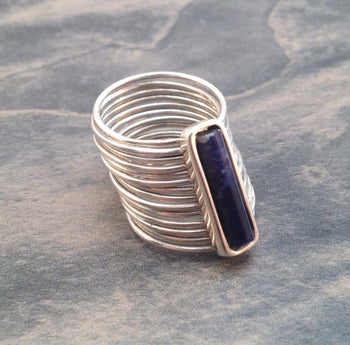 Sterling Silver and Sodalite Diva Ring