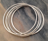 Classic Silver Stacking Bangles