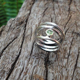 Birthstone Silver Wrap Ring