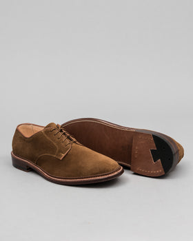 Plain Toe Blucher Unlined Snuff Suede