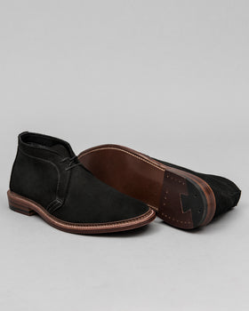 Unlined Chukka Boot Black Suede
