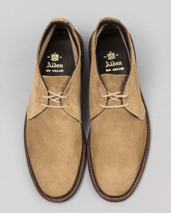Unlined Chukka Boot Tan Suede