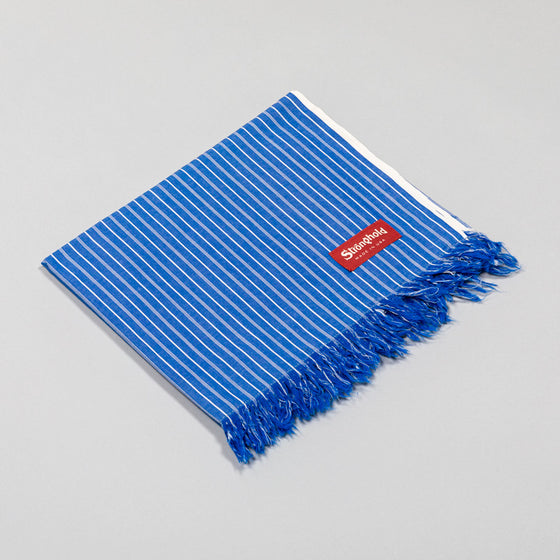 Classic Stronghold Scarf, Blue Pin Stripe