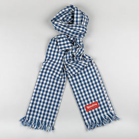 Classic Stronghold Scarf, Navy Checkered