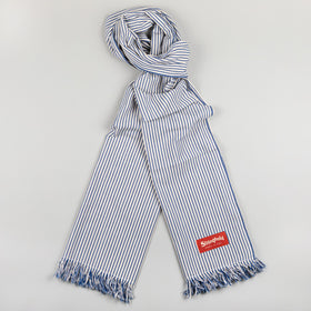 Classic Stronghold Scarf, Navy Pin Stripe