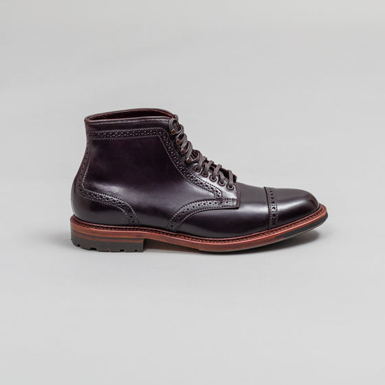Brogued Cap Toe Boot, #8 Shell Cordovan