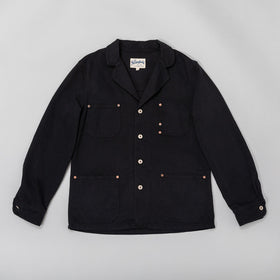 Work Jacket, Black Bedford Corduroy