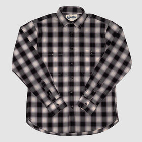 Shadow Plaid Work Shirt Maroon