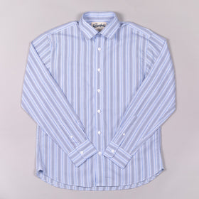 Classic Baby Blue Pin Stripe Dress Shirt