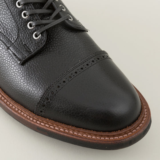 Alden Cap Toe Blucher Black Scotch Grain Image #1