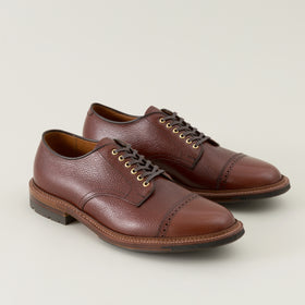 Alden Cap Toe Blucher Brown Scotch Grain Image #1