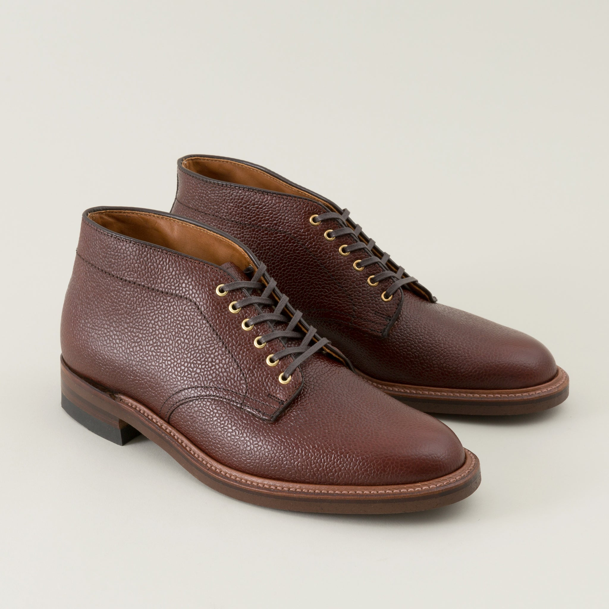 Six Eyelet Chukka Boot Brown Scotch Grain The Stronghold