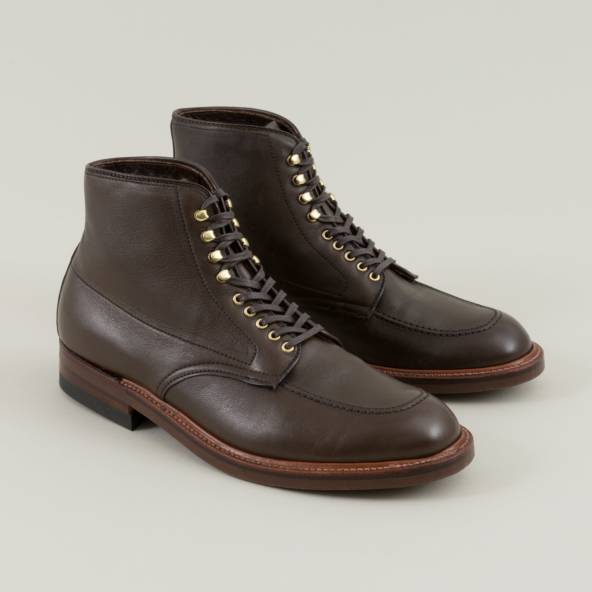 747a4e41421 Indy Boot, Olive Brown Calfskin