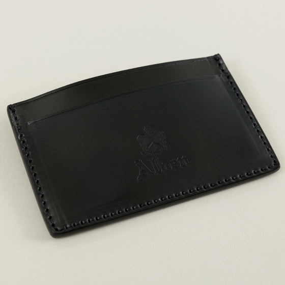 Alden Mini Card Case Black Shell Cordovan Image #1