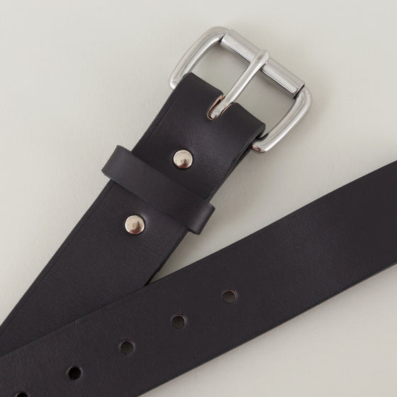 Filson 1 5 In Bridle Leather Belt Black With Stainless Steel Buckle Image #1