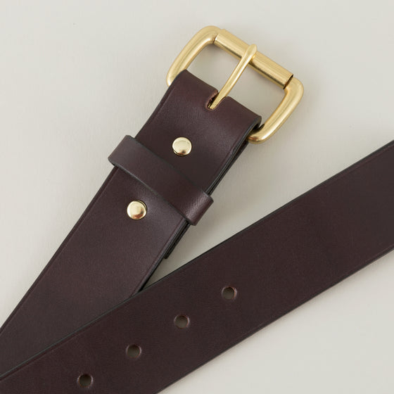 Filson 1 5 In Bridle Leather Belt Brown With Brass Buckle Image #1