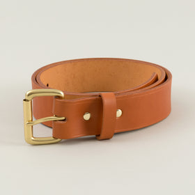 Filson 1 5 In Bridle Leather Belt Tan With Brass Buckle Image #1