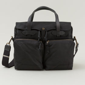 Filson 24 Hour Tin Cloth Briefcase Black Image #1