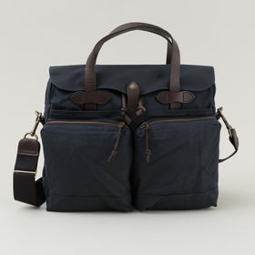 Filson 24 Hour Tin Cloth Briefcase Navy Image #1
