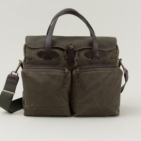 Filson 24 Hour Tin Cloth Briefcase Otter Green Image #1