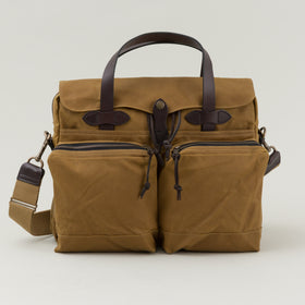 Filson 24 Hour Tin Cloth Briefcase Tan Image #1