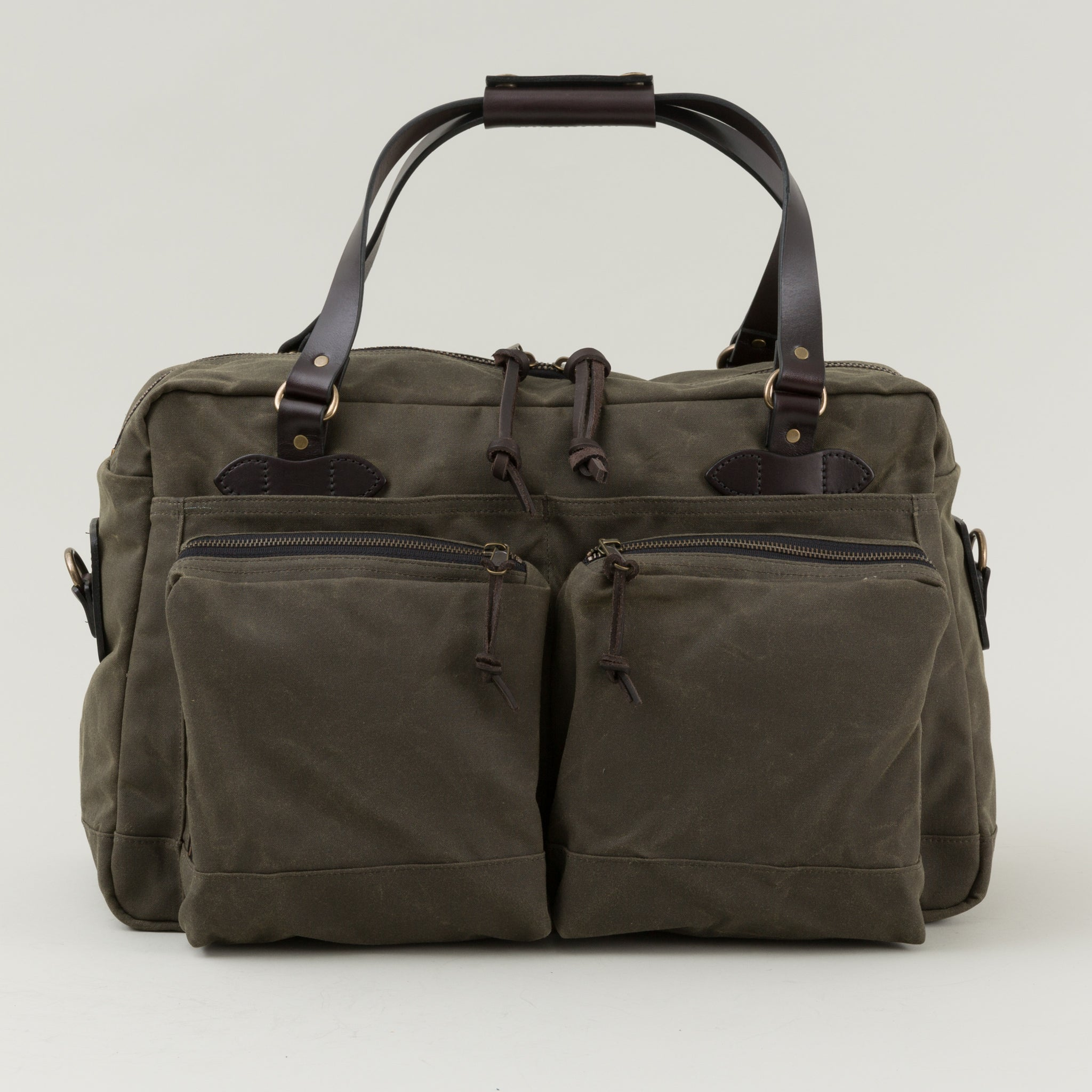 a3744c4478 Filson 48 Hour Tin Cloth Duffle Bag Otter Green Image  1