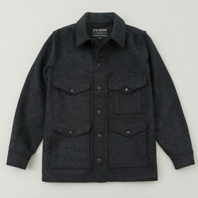 Filson Mackinaw Wool Cruiser Jacket Charcoal Image #1