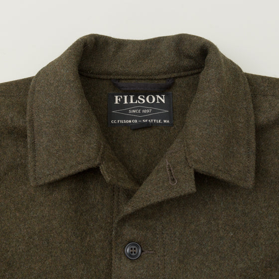 Filson Mackinaw Wool Cruiser Jacket Forest Green Image #1